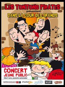 affiche des Tontons Pirates spectacle familial dans la cour des grands de la Compagnie Tous des Pirates